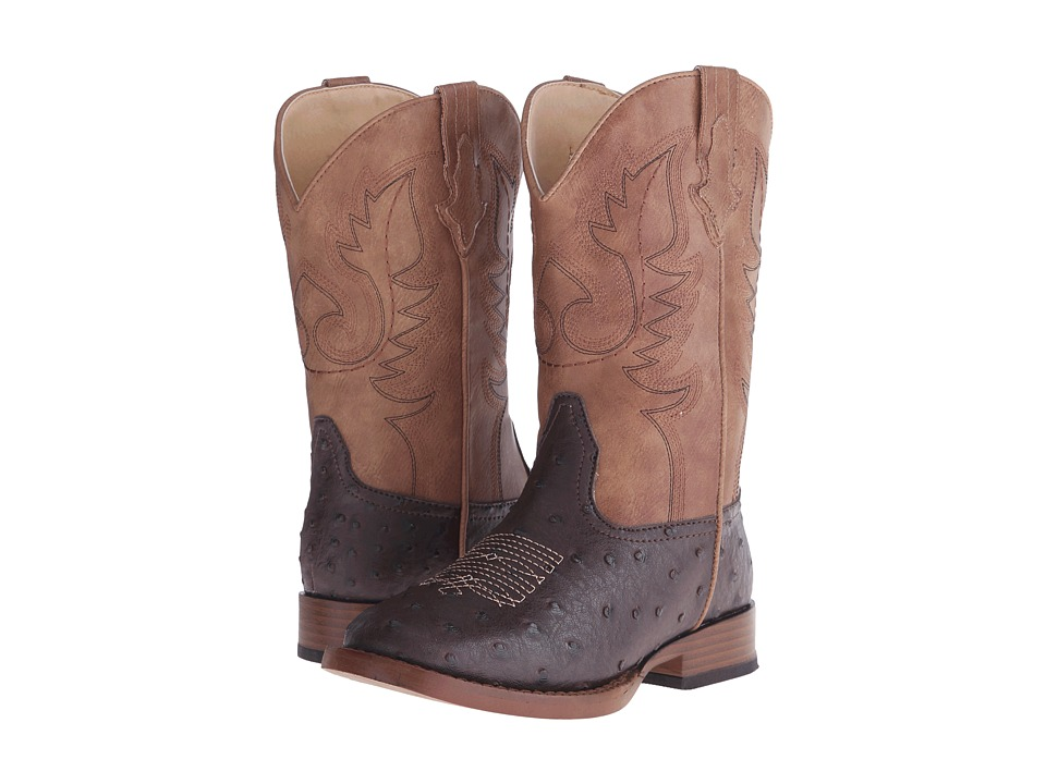 Roper Kids Cowboy Cool Square Toe Boot (Toddler/Little Kid) (Brown) Cowboy Boots