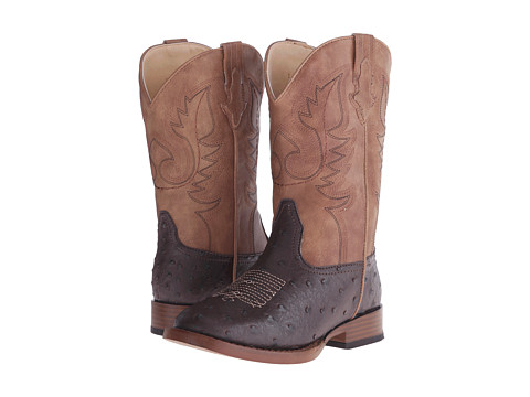 Roper Kids Cowboy Cool Square Toe Boot (Toddler/Little Kid) - Brown