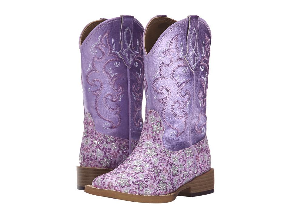 Roper Kids - Lavender Square Toe Boot (Toddler/Little Kid) (Purple) Cowboy Boots
