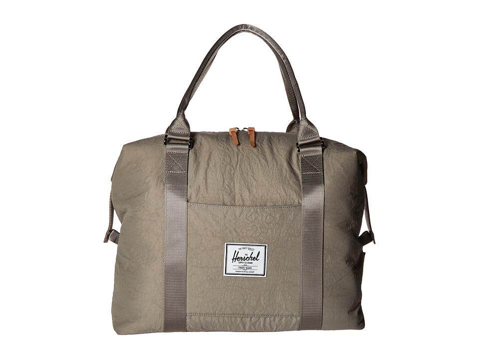 Herschel Supply Co. Strand Agate Grey/Raw Veggie Tan Leather Duffel Bags