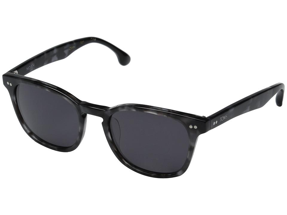 TOMS Noah Matte Grey Crystal Fashion Sunglasses