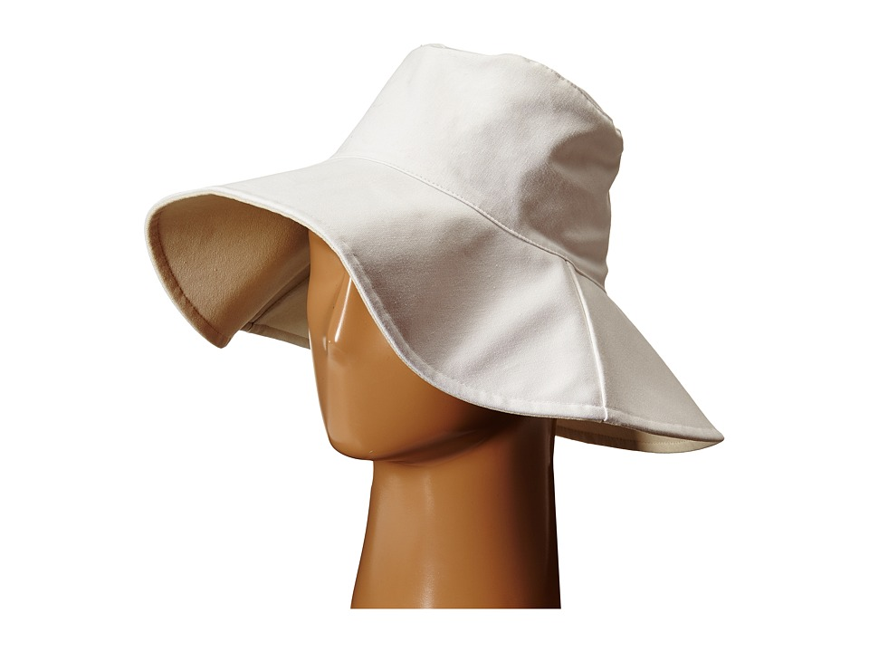 Hat Attack Canvas Reversible Sunhat White Traditional Hats