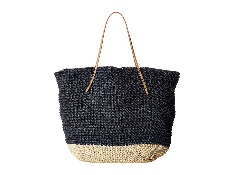 Hat Attack - Twisted Colorblock Tote (Navy) Tote Handbags
