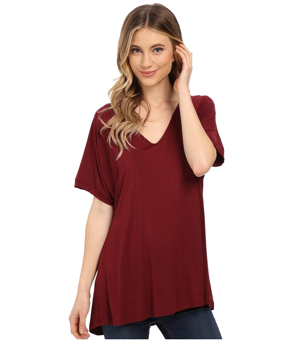 Culture Phit Viola Modal Short Sleeve Top (Wine) Women