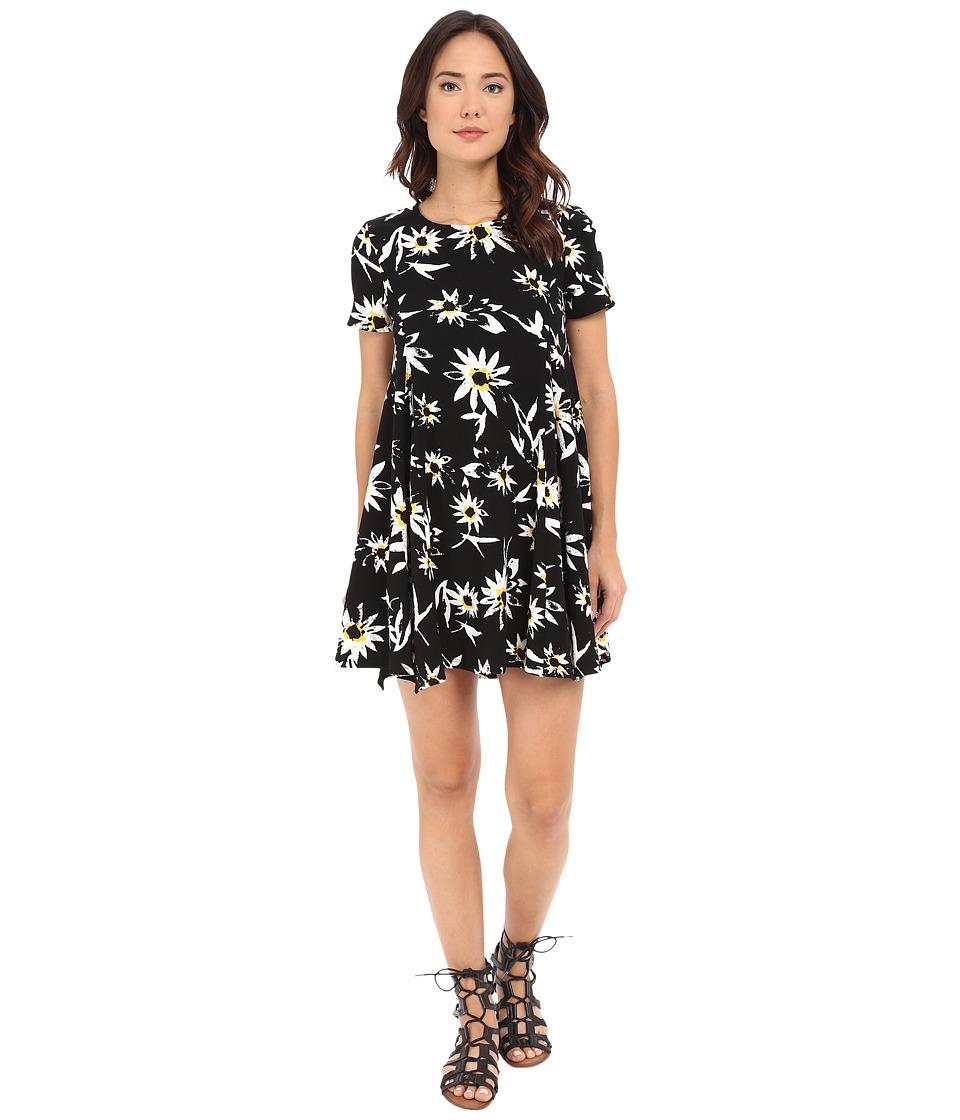 Brigitte Bailey Camilla Floral Flare Dress Black Womens Dress