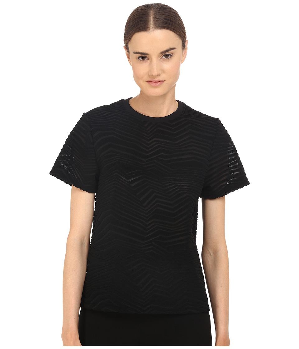 Neil Barrett Fragmented Line Small Masc. Jersey T Shirt Black Womens T Shirt