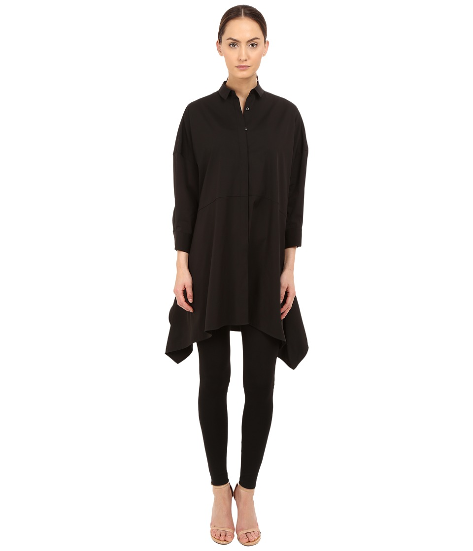 Neil Barrett Drapped Wide Oversize Popeline Top Black Womens Clothing