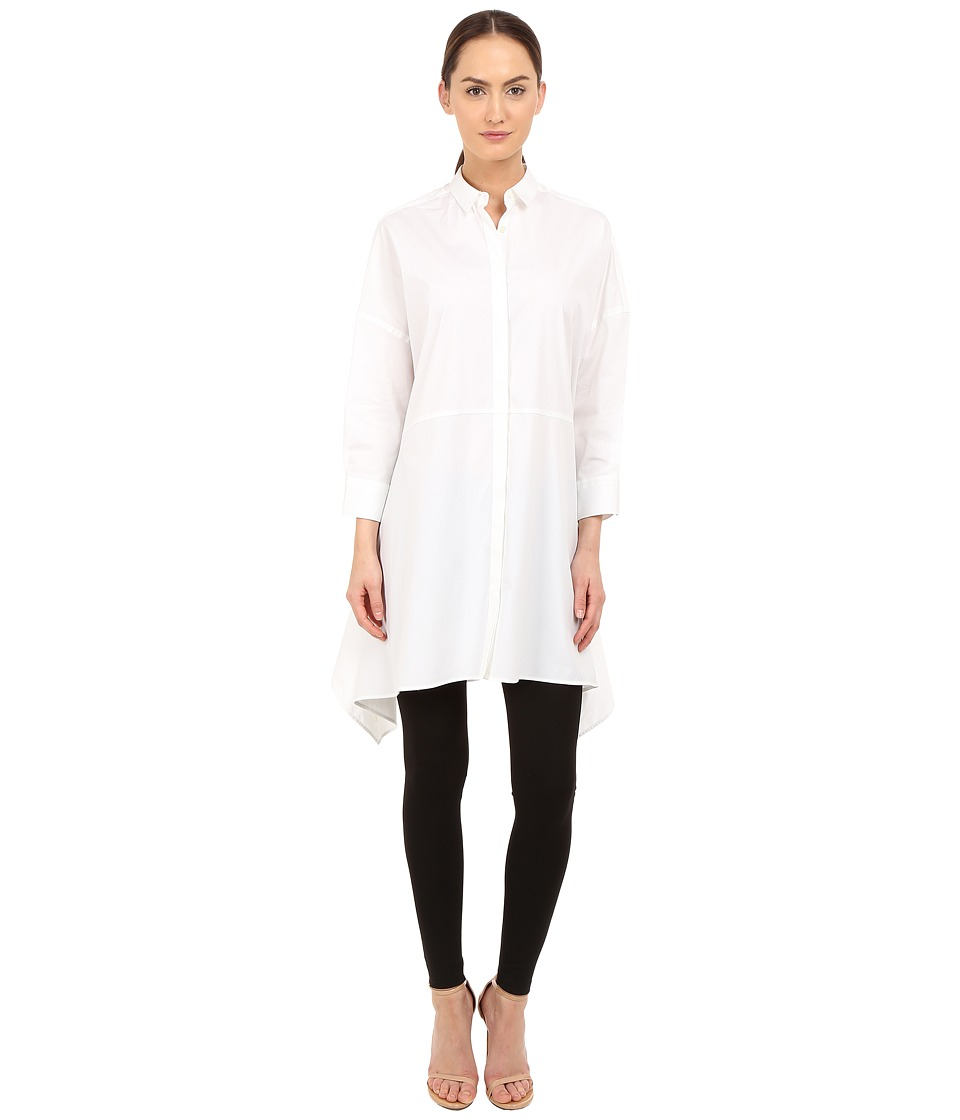 Neil Barrett Drapped Wide Oversize Popeline Top White Womens Clothing