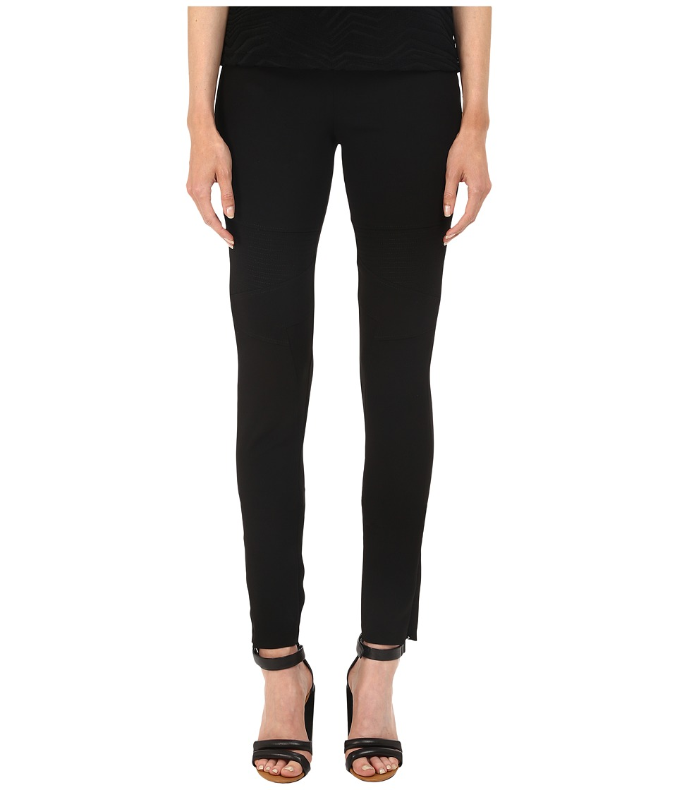 Neil Barrett Articulated Knee Legging Fit Light Crepe Stretch Trousers Black Womens Casual Pants