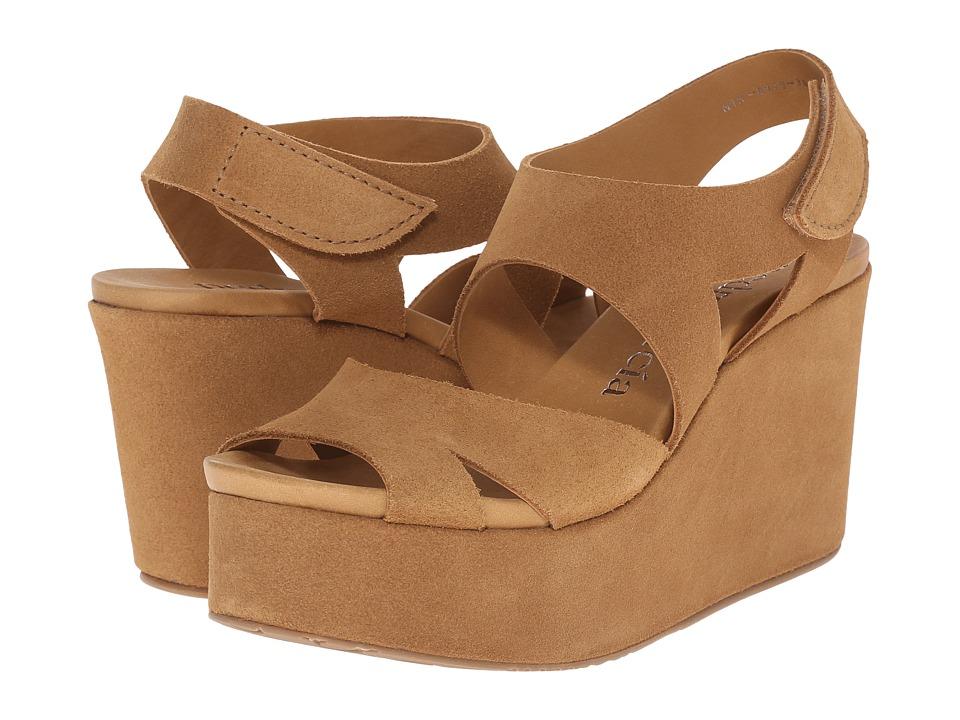 Pedro Garcia Dacil Caramel Castoro Womens Wedge Shoes