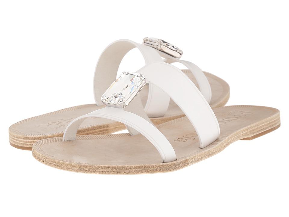 Pedro Garcia Iride White Vacchetta Womens Sandals