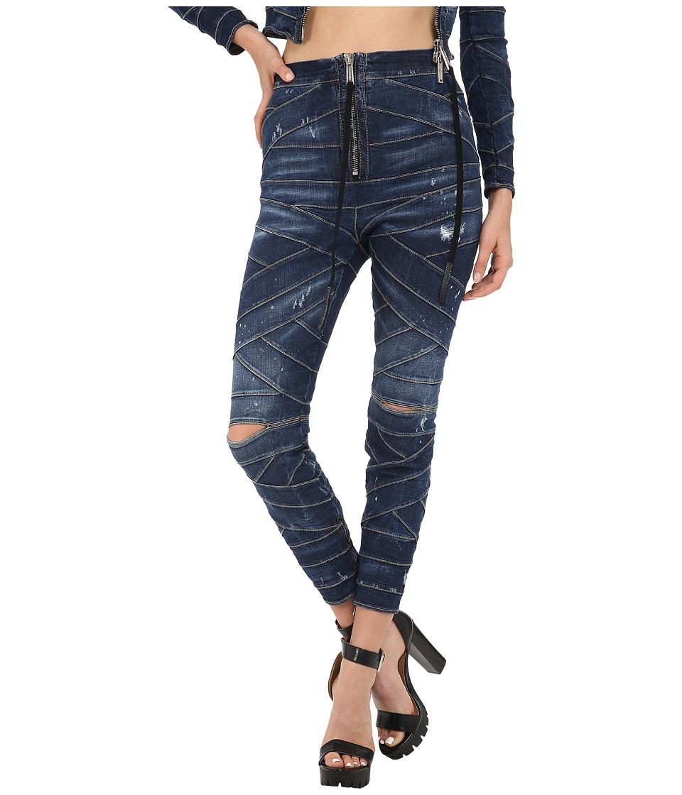 DSQUARED2 Acqua Bubble Wash/Bondage Denim Pants Blue Womens Jeans