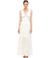 The Kooples - Long Dress in A Cotton Blend and Lace