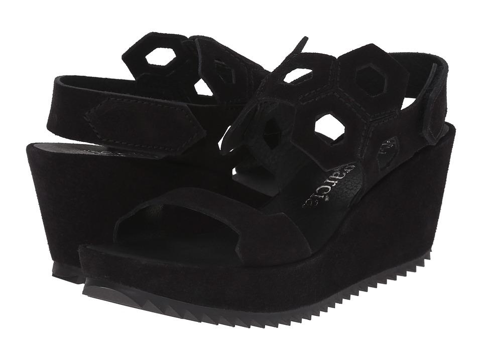 Pedro Garcia Fermina Black Castoro Womens Wedge Shoes