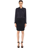 The Kooples - Bi-Material Dress with Perfecto Collar