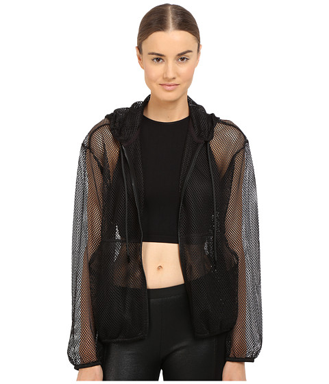 The Kooples Hooded Jacket in Mesh - Black