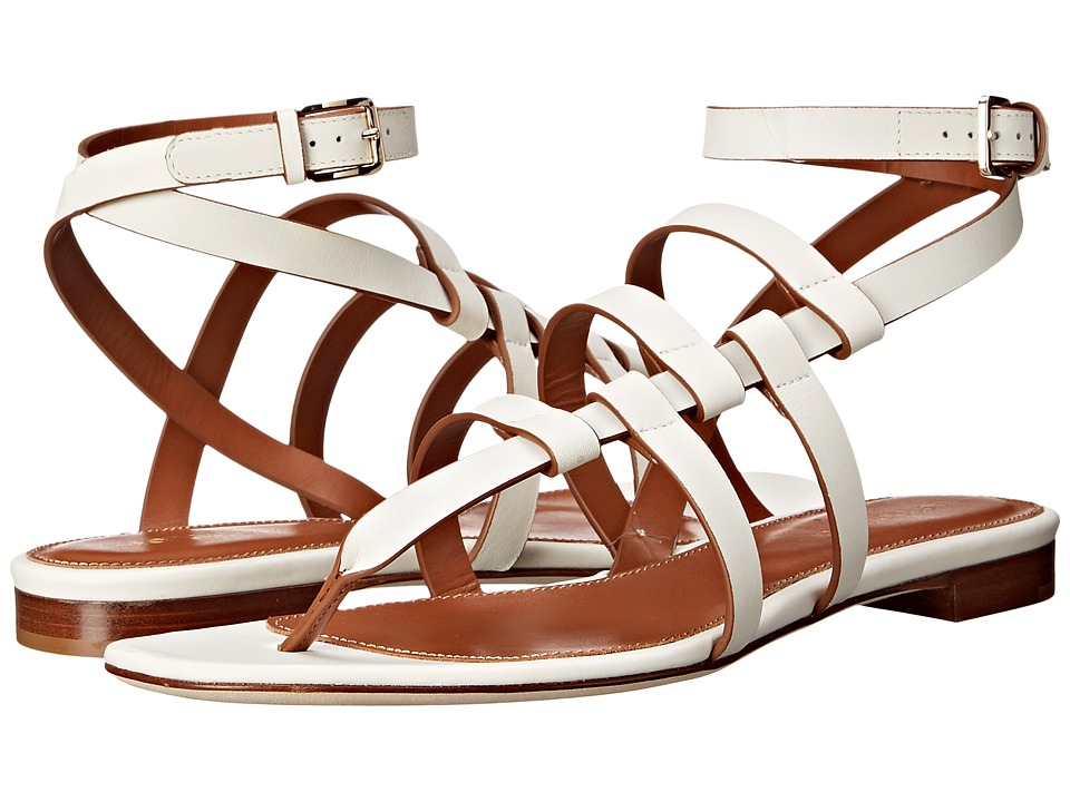 Sergio Rossi Capri Jasmine Blanc Leather Womens Sandals