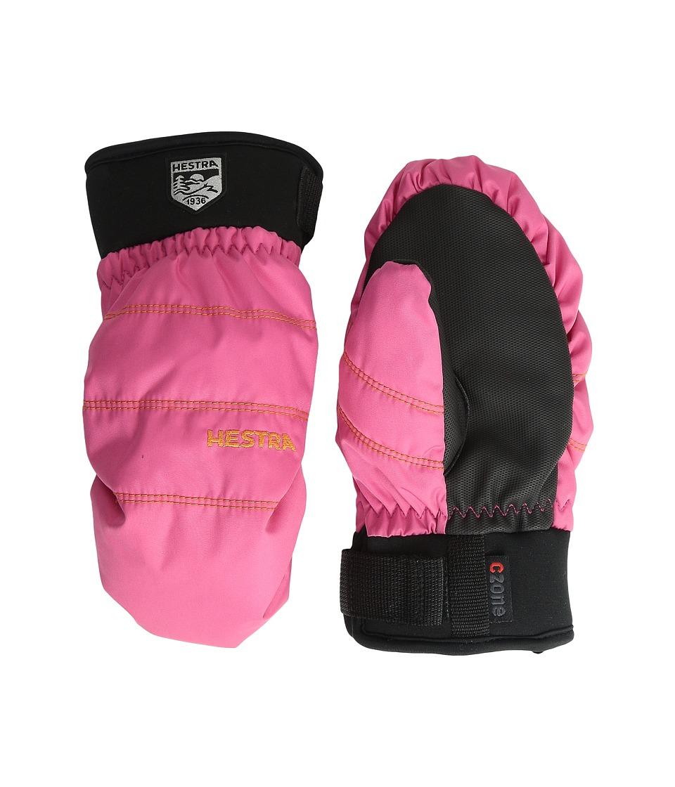 Hestra Czone Primaloft Junior Mitt (Fuchsia) Ski Gloves