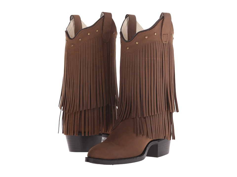 Old West Kids Boots Fringe Boot Big Kid Brown Cowboy Boots