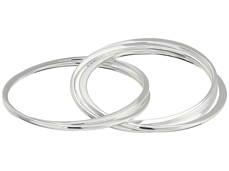 Robert Lee Morris Multi Interlocking Bangle Bracelet Silver Bracelet