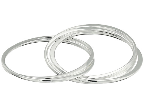 Robert Lee Morris Multi Interlocking Bangle Bracelet - Silver