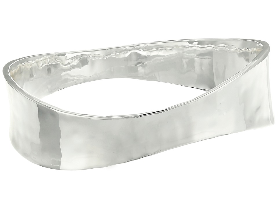 Robert Lee Morris - Hammered Sculptural Bangle Bracelet (Silver) Bracelet