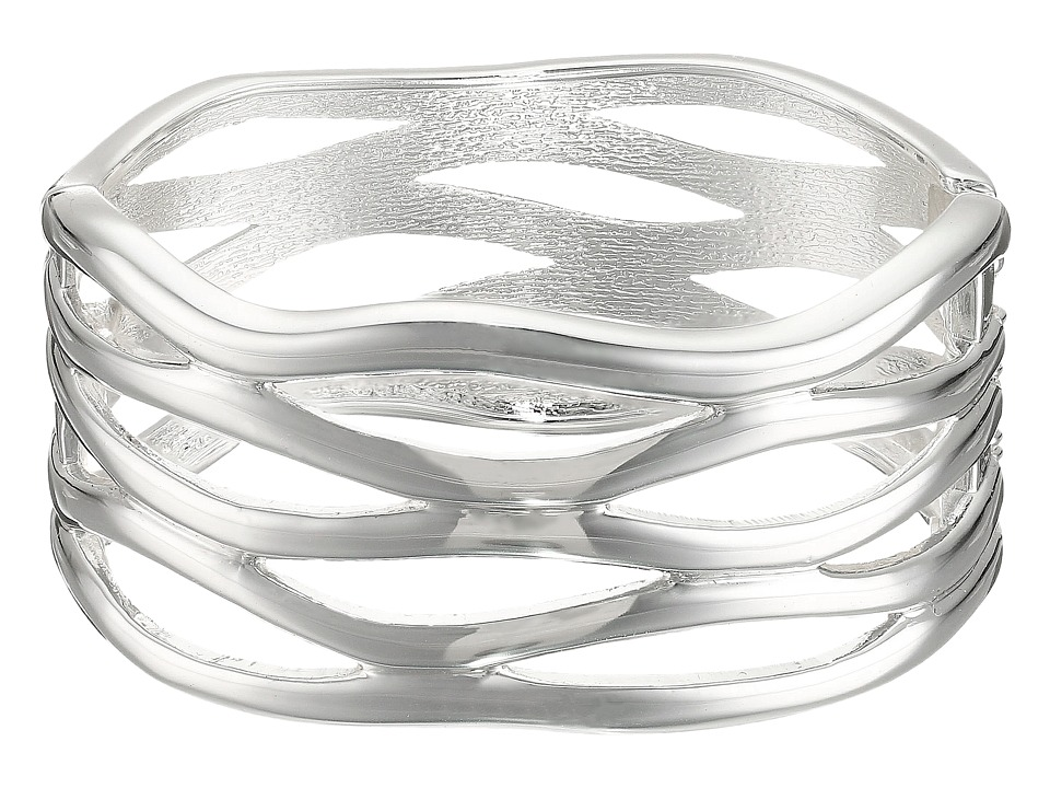 Robert Lee Morris Cut Out Hinge Bangle Bracelet Silver Bracelet