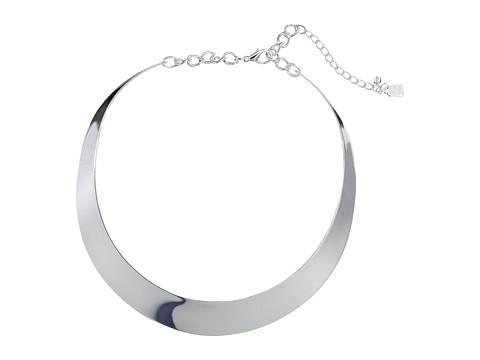 Robert Lee Morris Half Moon Collar Necklace - Silver