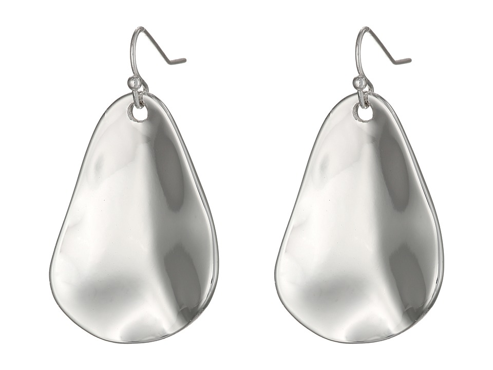 Robert Lee Morris - Organic Hammered Drop Earrings (Silver) Earring