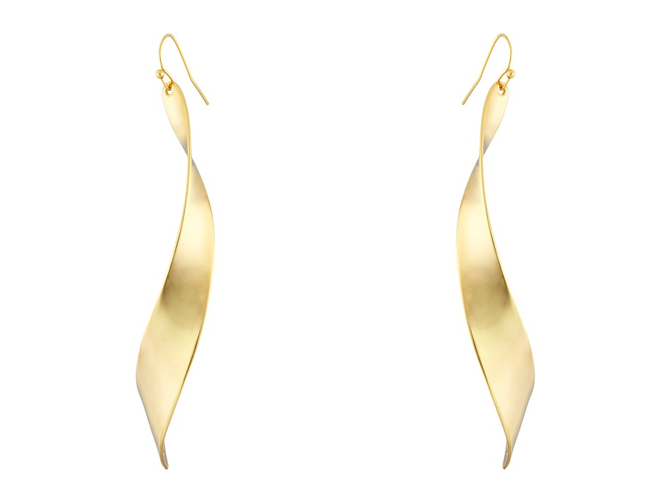 Robert Lee Morris - Linear Twist Earrings (Gold) Earring