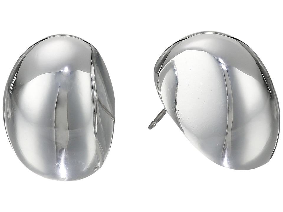 Robert Lee Morris - Oval Domed Stud Earrings (Silver) Earring