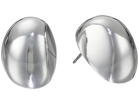 Robert Lee Morris Oval Domed Stud Earrings - Silver