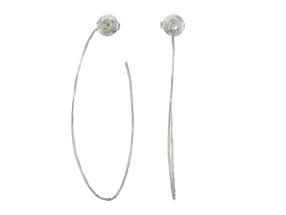 Robert Lee Morris - Large Hammered Wire Hoop Earrings (Silver) Earring