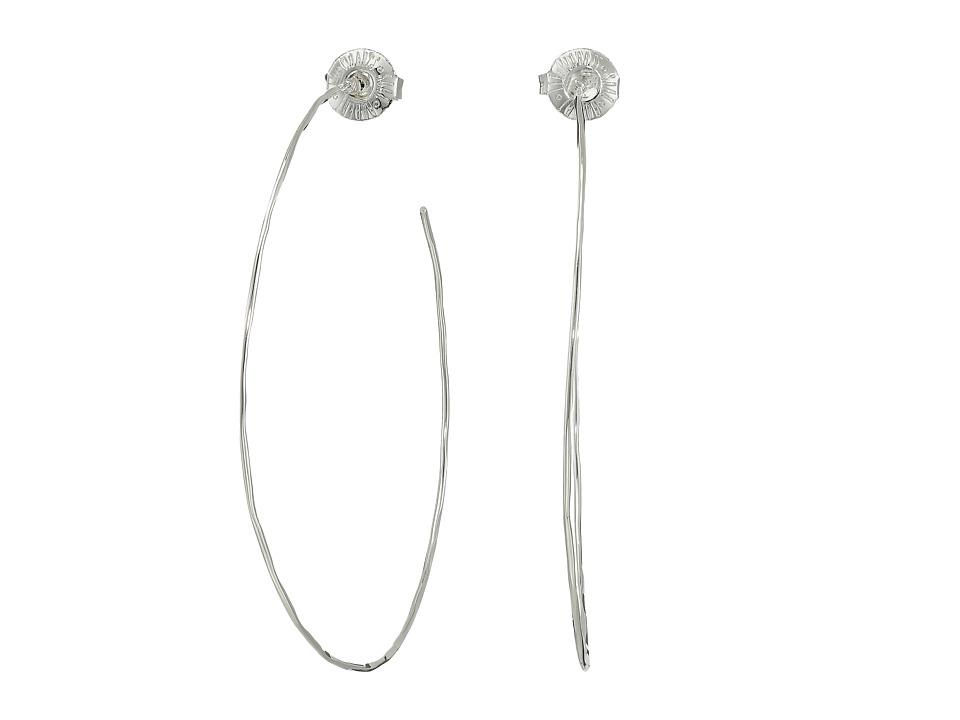 Robert Lee Morris - Large Hammered Wire Hoop Earrings