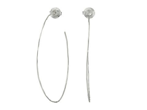 Robert Lee Morris Large Hammered Wire Hoop Earrings - Silver