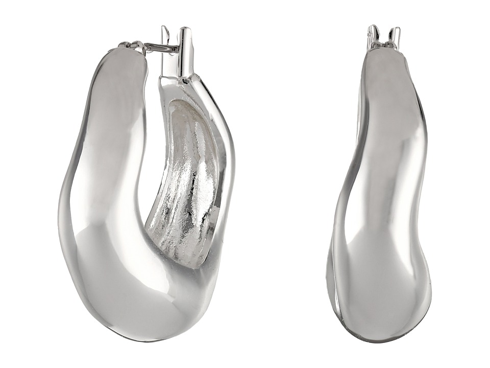 Robert Lee Morris - Small Sculptural Hoop Earrings (Silver) Earring
