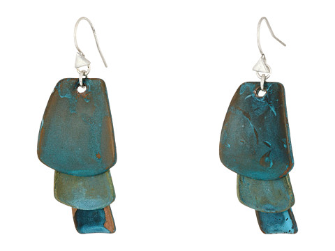 Robert Lee Morris Patina Drop Earrings - Blue/Green