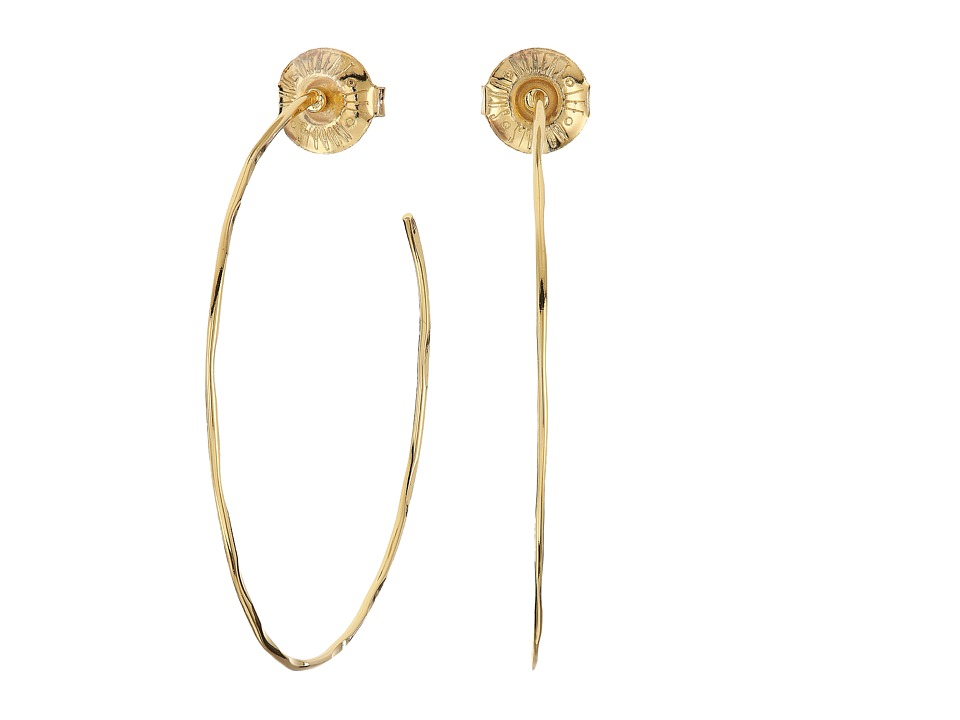 Robert Lee Morris - Medium Hammered Wire Hoop Earrings (Gold) Earring
