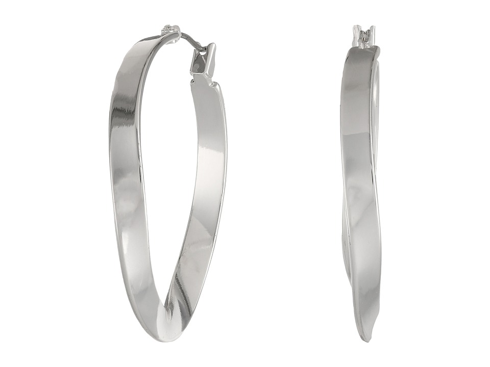 Robert Lee Morris - Twist Hoop Earrings (Silver) Earring