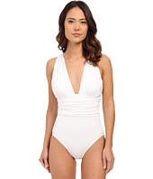 Michael Kors - Drapey Jersey High Neck Peep Cross Front Maillot