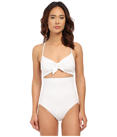 Michael Kors Drapey Jersey Strappy Cross Back Tie Front Maillot