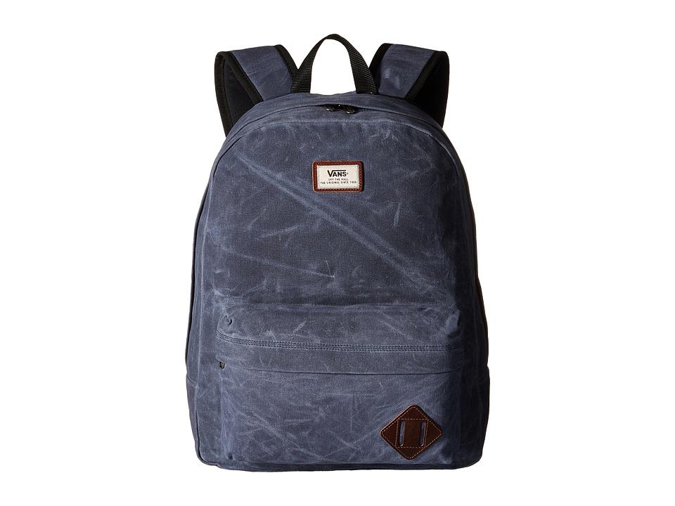Vans - Old Skool Plus Backpack (Dress Blues Waxed Canvas) Backpack Bags