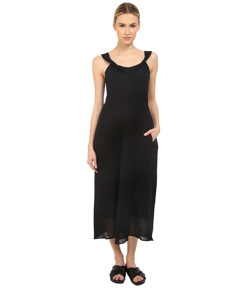 Ys by Yohji Yamamoto Twisted V Neck Dress Black Womens Dress