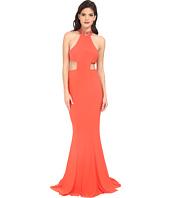 Faviana - Jersey Jewl Neck Gown w/ Back Strap Detail 7728
