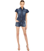 RED VALENTINO - Short Sleeve Denim Romper