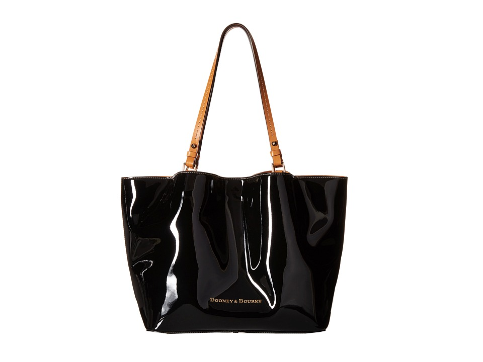 Dooney & Bourke - City Flynn (Black w/ Butterscotch Trim) Tote Handbags