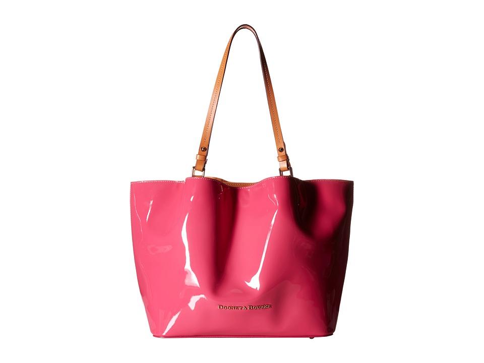 Dooney & Bourke - City Flynn (Fuchsia w/ Butterscotch Trim) Tote Handbags