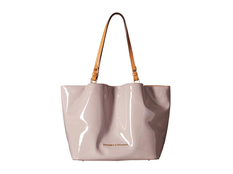 Dooney amp Bourke City Flynn Oyster w/ Butterscotch Trim Tote Handbags