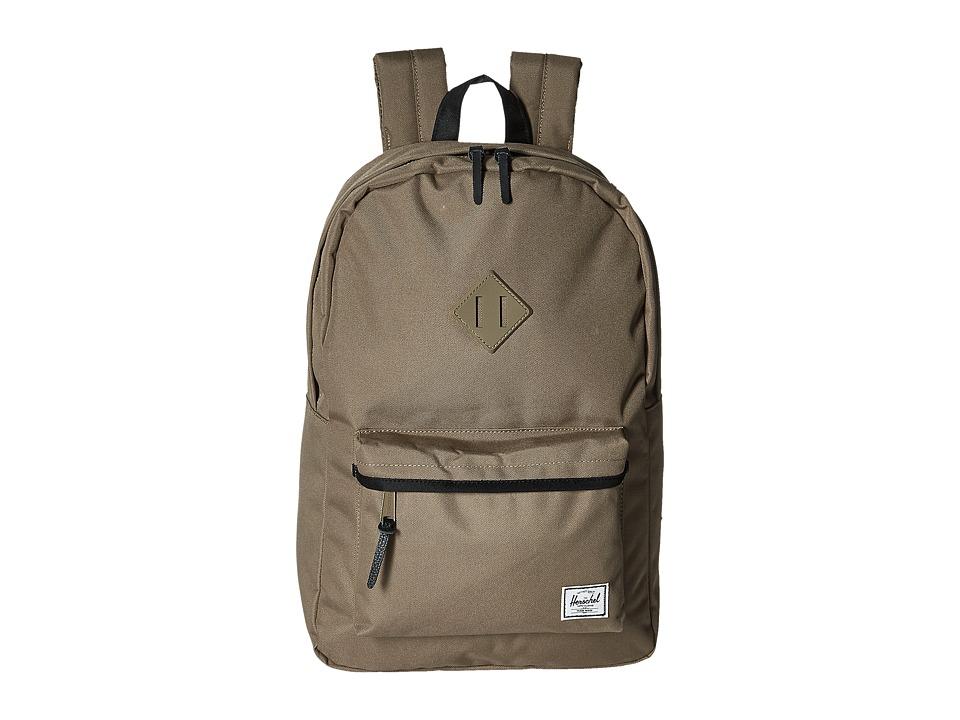 Herschel Supply Co. - Heritage (Lead Green/Black/Lead Green Rubber/Black) Backpack Bags