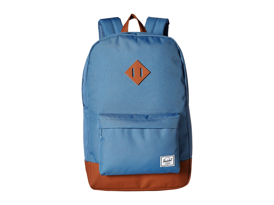 Herschel Supply Co. Heritage Captains Blue/Tan Synthetic Leather Backpack Bags